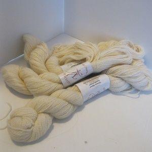 3 Skeins of Lace Weight Alpaca Yarn - Cream